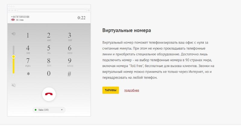Виртуальный номер Zadarma