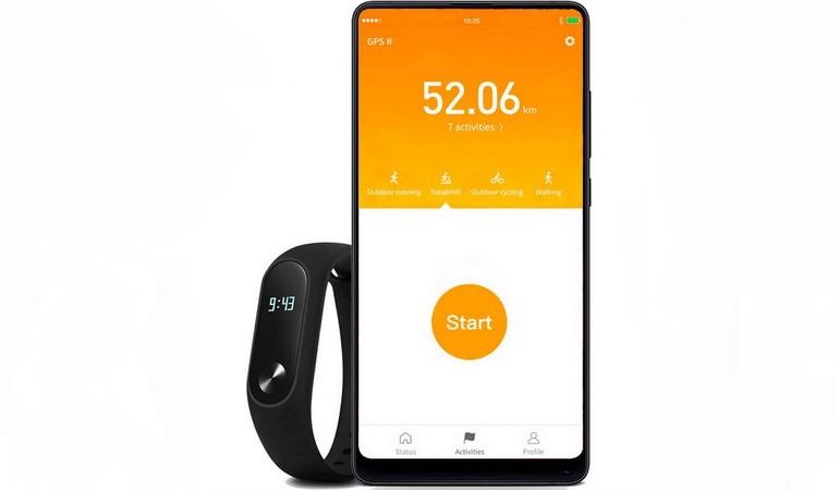 Приложение Xiaomi Mi Fit для спорта